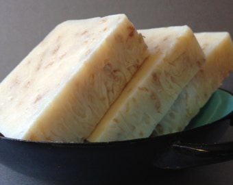 Soothing Organic Goat's Milk & Oatmeal Soap, Cold Process Organic Unscented Soap