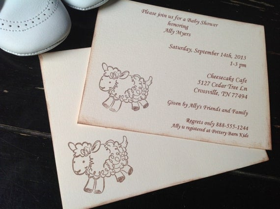 lamb baby shower invitations lamb invitations for new baby or baby 39 s