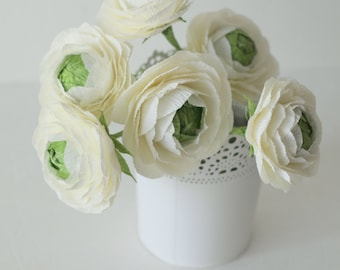 Paper flower-Ranunculus for wedding bouquet,anniversary gifts