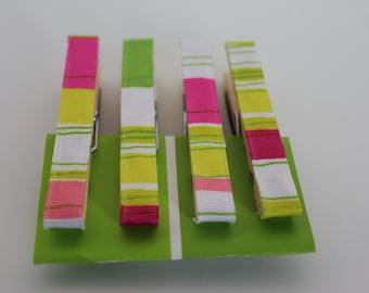 Ribbon Clothes Pin Magnets