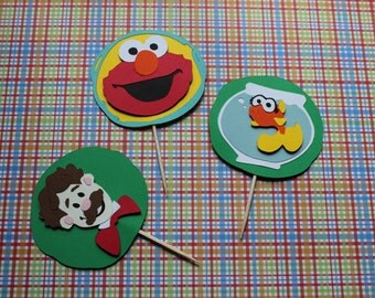 Elmo's World -Elmo, Dorothy and Mr. Noodles Cupcake Toppers