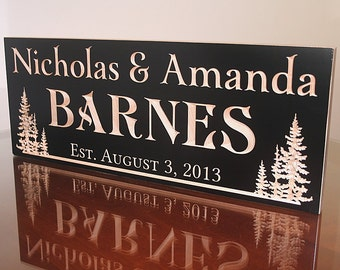 Custom Cabin Signs, Rustic Wooden Name Signs, Benchmark Custom Signs Maple TL