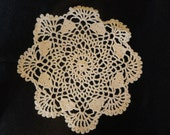 Cream doilie of cotton thread