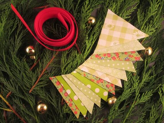 Mini christmas bunting craft kit green