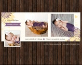 INSTANT DownloadBirth Announcement Facebook Timeline Cover - FB34