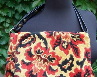 1970s Brocade Floral Tapestry Handbag
