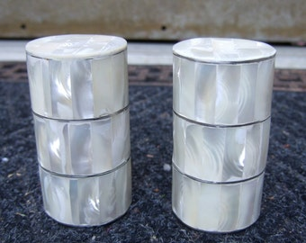 Mother of Pearl Exotic Salt & Pepper Shakers