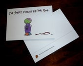 I'm Sorry Zombies Ate Your Dog postcard