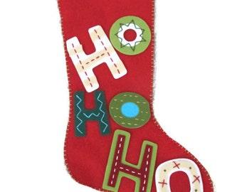 Ho Ho Ho Felt Stocking