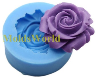 A436 Rose Flower Flexible Silicone Mold Silicon Mould For Polymer Clay Crafts Jewelry Cake Decorating Decoration Mold Making Makes