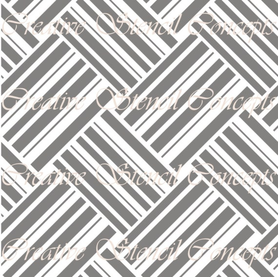 Parquet floor decorative stencil multiple sizes available on for Mylar flooring
