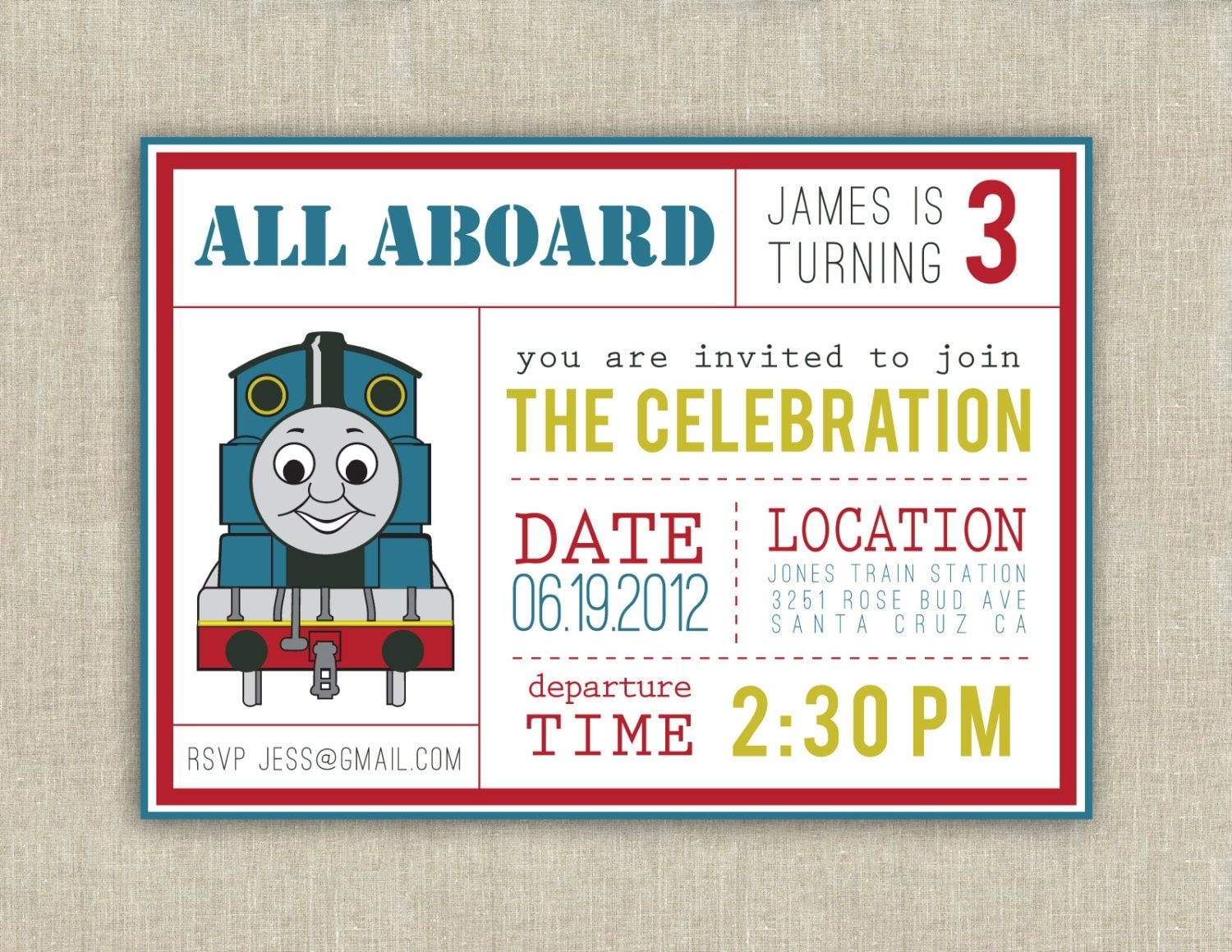 Thomas The Train Party Invitations can inspire you to create best invitation template