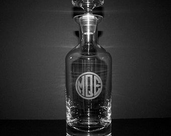 Engraved Wellington Whiskey Decanter - Groomsmen Gifts (D13)