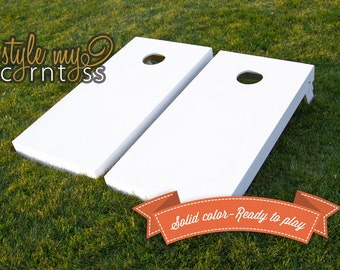 Corntoss | Cornhole | Baggo Set | Solid One Color Finish - Ready to Play | 2 Boards | Bags Optional