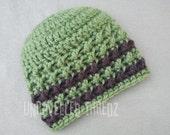 Green and Brown Newborn Hat, Textured Newborn Hat, Textured Baby Hat, Newborn Boy Hat
