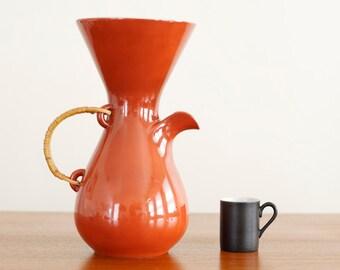 Rare Modernist Kenji Fujita for Freeman Lederman Ceramic Coffee Carafe - Mid Century