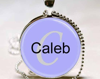 Caleb Name Monogram Handcrafted  Necklace Pendant (NPD0504)