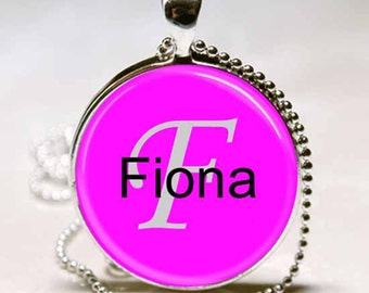 Fiona Name Pendant Name Monogram Handcrafted  Necklace Pendant (NPD1749)