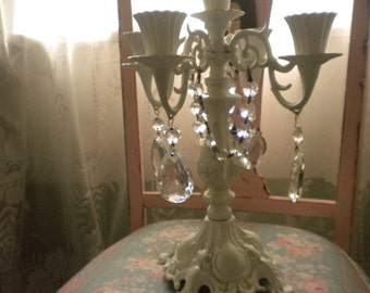 REDUCED.......Stunning Candelabra, Shabby Chic, French, French Country, Cottage, French Farmhouse,Wedding