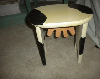 Cute Country Cow Stool, Farmhouse, Primitive, Country
