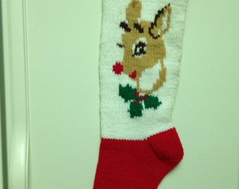 2016 Christmas Personalized Hand Knitted Christmas Stocking
