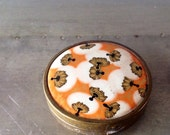 1 Small golden metal Box or Compact from France, Antique Coty