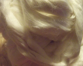 White Bamboo Silk Roving 2 oz