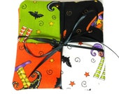 Quilted Coaster Set - Wine Coasters - Handmade Drink Coasters - Fabric Coaster Set - Halloween Drink Coasters - Fabric Drink Coasters