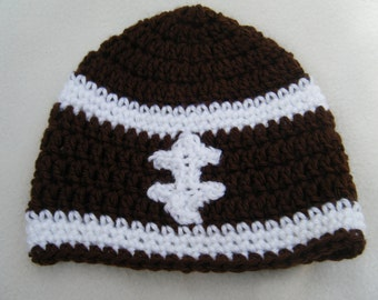 Football Baby Beanie - MADE TO ORDER - Handmade by Me