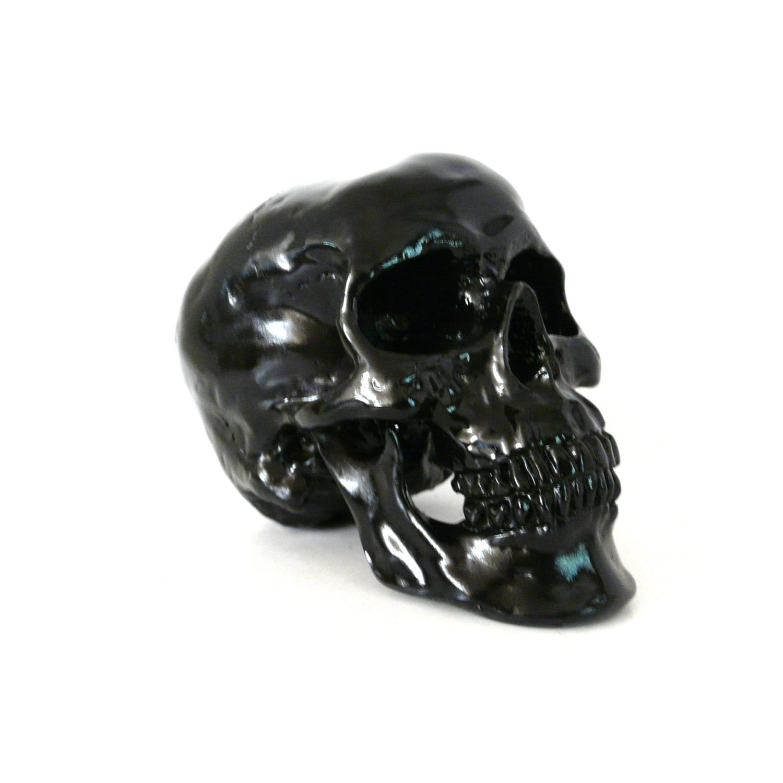 Skull Head Skulls Macabre Goth Black Home Decor Skull By