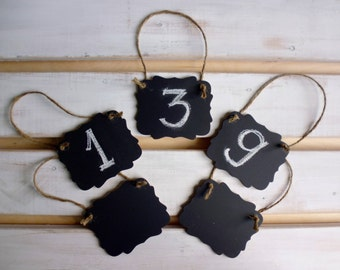 5 CHALKBOARDS Wedding Table Numbers , Mini Chalk Board Table Numbers, Gift Tags, Favor Tags, Photo Prop Chalk Boards