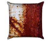 "Rust 1 - Original Photo Sofa Throw Pillow Envelope Cover for 18"" inserts"