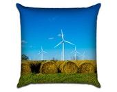 "Texas Hay 1 - Original Photo Sofa Throw Pillow Envelope Cover for 18"" inserts"
