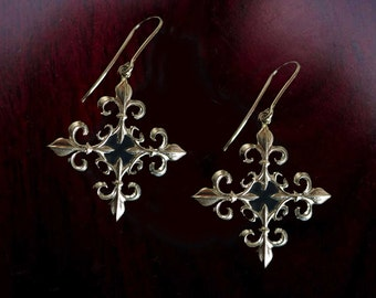 Sterling Silver Fleur-de-Lys Earrings