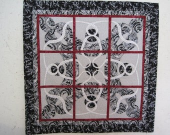 Applique in Black, White, and Red