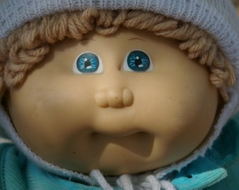 CPK Caucasion Blue Eyed Blond Curly Haired Boy All Original Head Mold I
