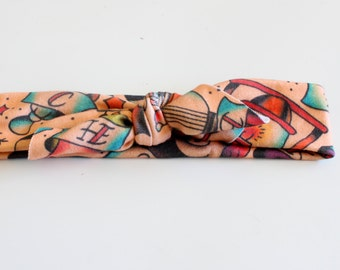 tattoo headband, knotted headband, baby headband, tattoos, baby tattoos, augie and lola headband