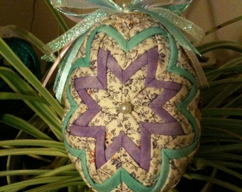 Quilted  Fabric Easter Egg