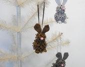 Easter Bunny Ornaments rustic