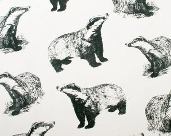 Hand Printed Badger Fabric