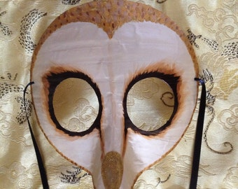 barn owl mask, costume