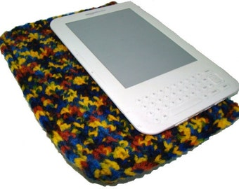Kindle Cozy, eReader Cozy, Nook Cozy, Crochet Kindle Cover, eReader Sleeve, Nook Cover, Multicolor Nook Cozy