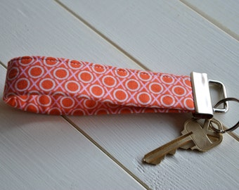 Fobskey - Fabric Key Fob - Anna Maria Horner's Hugs and Kisses in Candy