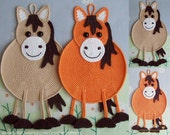 046 Horse decor, potholder or small pillow - Amigurumi Crochet Pattern - PDF file by Zabelina Etsy