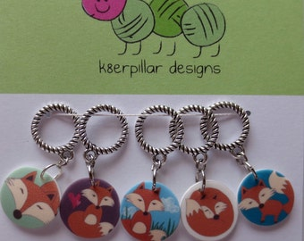 Snagless Stitch Markers - What Does The Fox Say