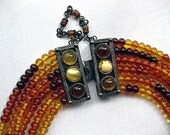 Ambra - An Exotic Baltic Amber Necklace, Sterling Clasp
