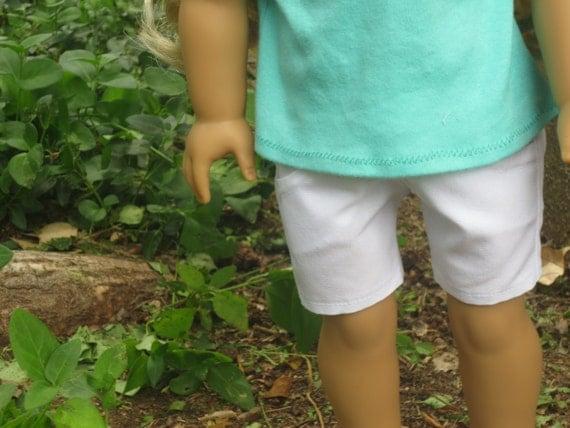 White Denim Shorts - American Girl Clothing