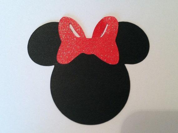 Minnie papier embellissement minnie t te avec escarpins rouges - Dessin tete de minnie ...