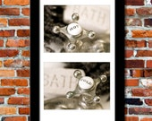 PAIR (2):  Bathroom Faucet Hot and Cold Water Handles on the Sink in an Antique Vintage Decor, 2 4x6 Or 5x7 Photographic Prints (P6P)