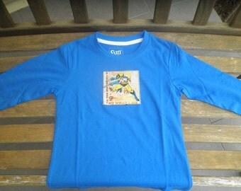 Long sleeve IRON MAN applique shirt, size 3